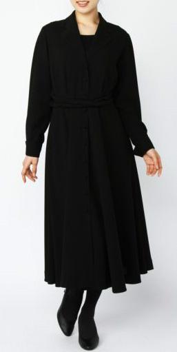 <シーイズソートニーブラック>斉藤伸子プロデュース シャツドレス