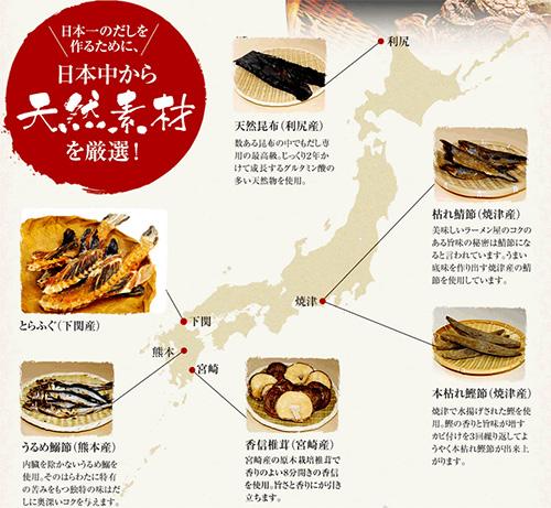 「福のだし」日本一のだしを作るために、日本中から天然素材を厳選!!