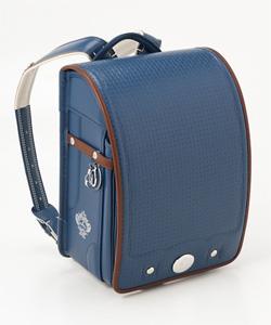 <オロビアンコ>かぶせ型押しランドセル(ブルー)