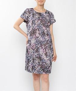 オパールプリントドレス МIC1401ー11(ブラック)