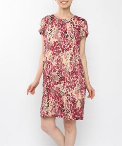 オパールプリントドレス МIC1401ー11(ピンク)
