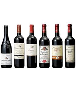 金賞受賞 ボルドー&南仏飲みくらべ赤ワイン6本セット