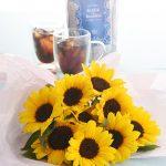 【日比谷花壇】 7月 誕生日 ギフト 特集 ヒマワリ アレンジ 水出し コーヒー セット ご紹介