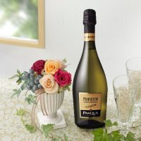 スパークリングワインとプリザーブドフラワーのセット イメージ